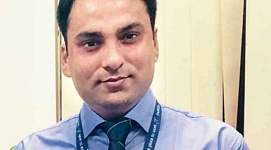 IndiGo station manager Rupesh Kumar Singh who was shot dead on in Patna on Tuesday night