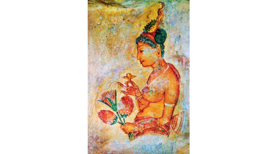 Did women ever have a right to their bodies? Ancient fresco on Mount Sigiriya in Sri Lanka