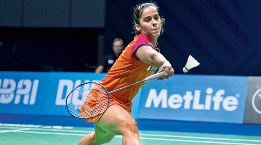 Saina got the better of Selvaduray Kisona of Malaysia 21-15, 21-15 in the opening round.