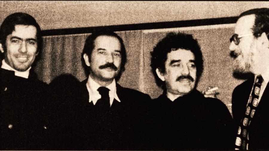 (From left to right) Mario Vargas Llosa, Carlos Fuentes, Gabriel García Márquez and José Donoso.