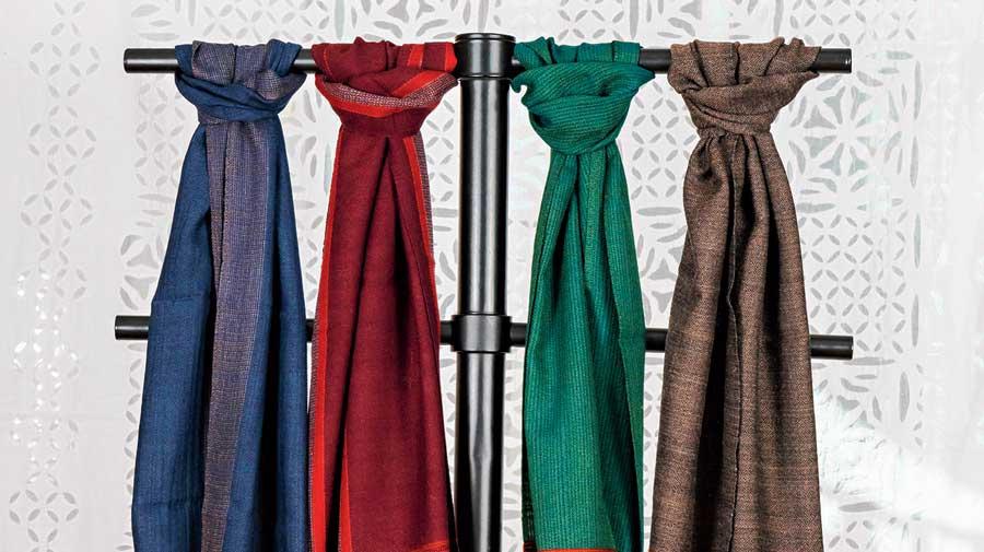 Kullu shawls at the store