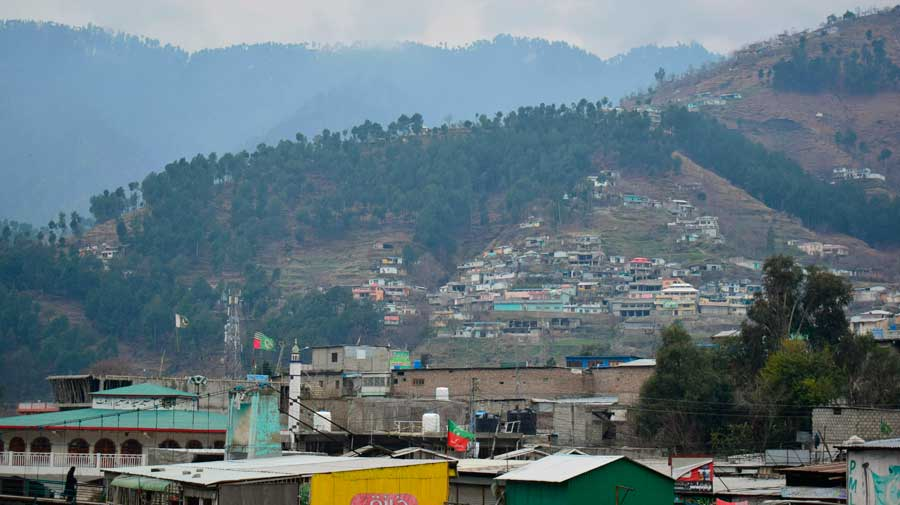 """A view of Pakistani town of Balakot on February 26, 2019. While one Congress minister used the word """"treason"""" to describe the alleged leak of military secrets, party sources said the central leadership had taken the matter """"very seriously"""" and would articulate its position soon."""