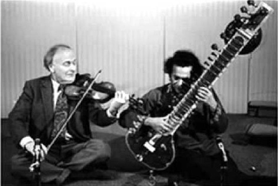 West meets East: Yehudi Menuhin and Ravi Shankar