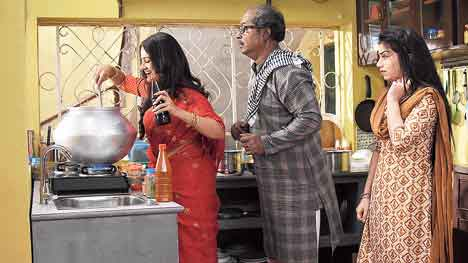 Gungun (Trina Saha) trying to stir up some magic in the haari
