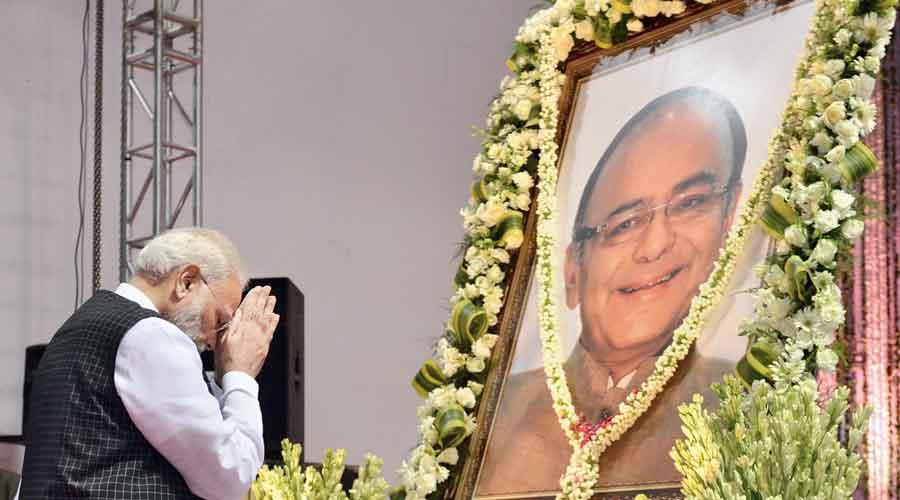 Modi pays tribute to late BJP leader Arun Jaitley on September 10, 2019