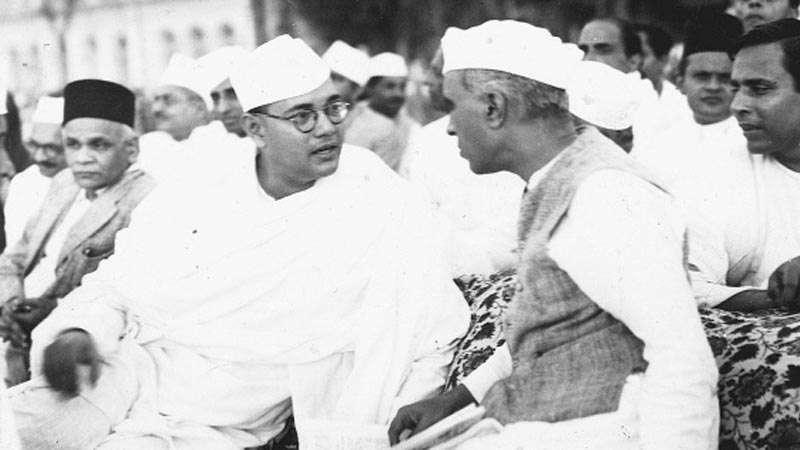 Subhash Bose and Jawaharlal Nehru.