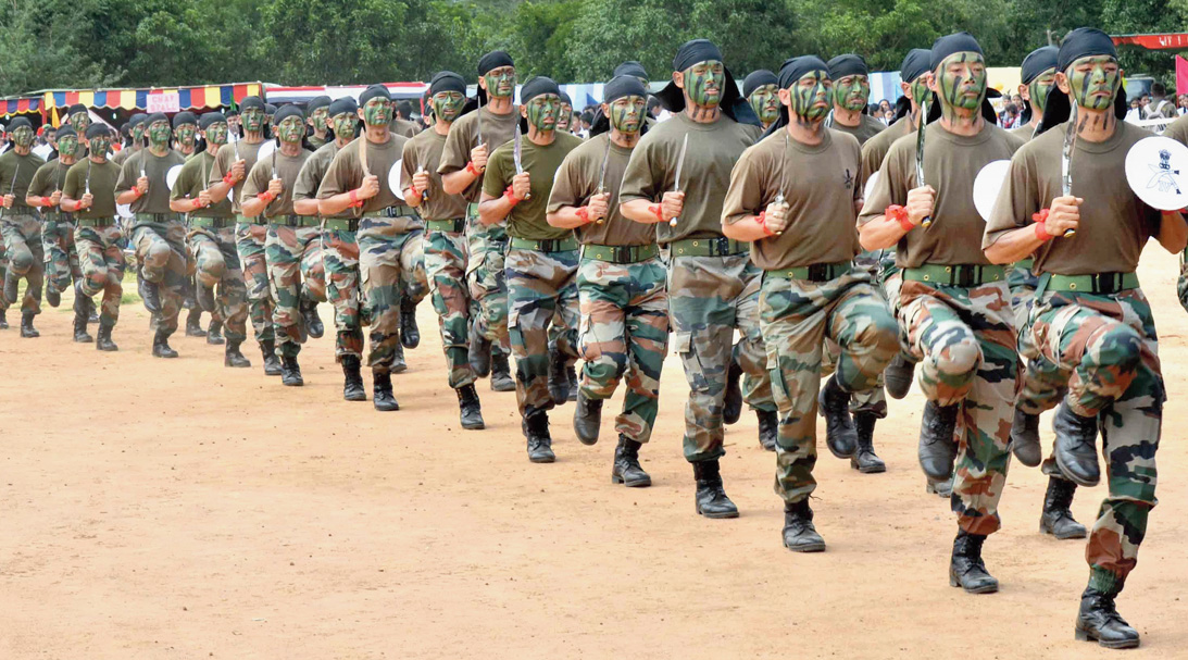 Gorkha members of the Indian Army.