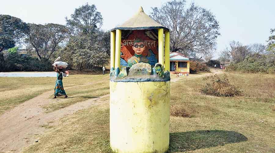 A view of the Netaji Subhas Chandra Bose  Smarak Udyan in Dhanbad