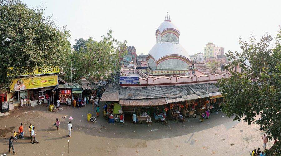 A view of Kalighat temple.