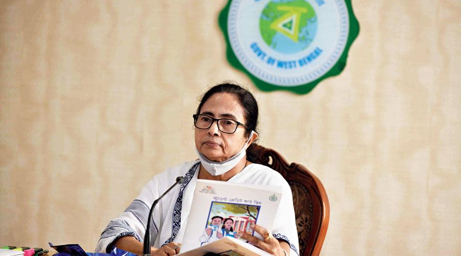 Mamata Banerjee at Nabanna on Wednesday.