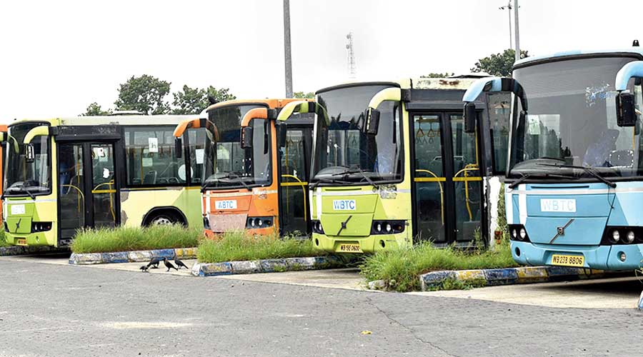 State-run buses were back on the roads of Bengal on Thursday.