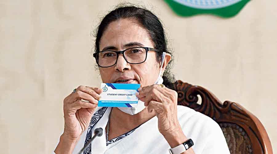 Mamata Banerjee at Nabanna on Wednesday