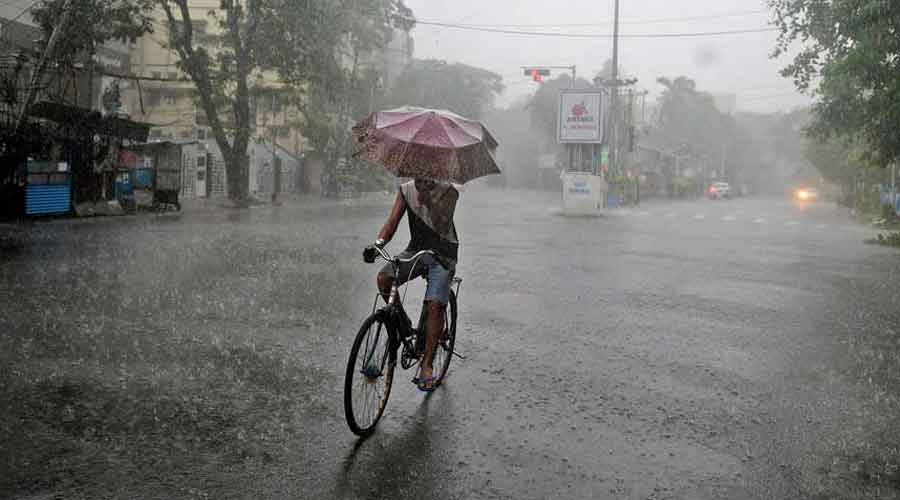 The rain was not uniform because the southwest monsoon currents are weak in south Bengal.