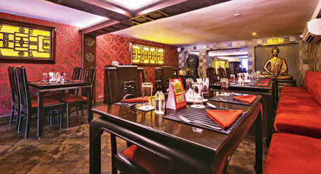 The interior of the latest outlet of Chowman that launched on July 1, in Serampore