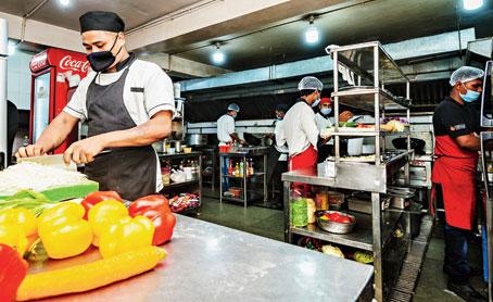 A cloud kitchen in Bangalore