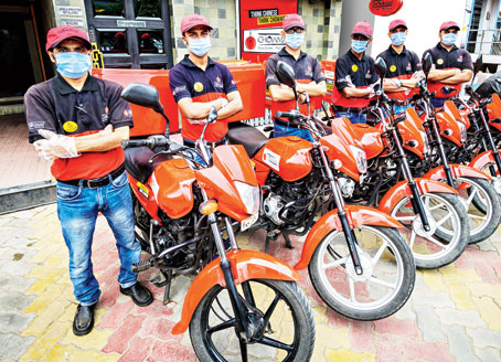 The Chowman delivery fleet that delivers all across Calcutta