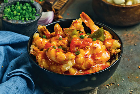 Devil's Prawn — one of Chowman's signature dishes