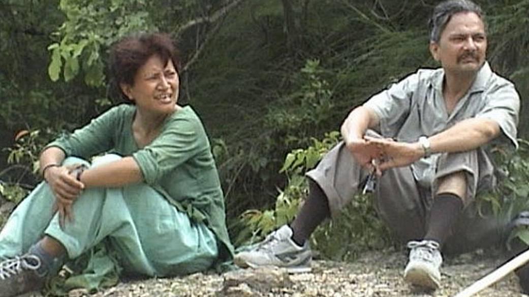 Hisila Yami and Baburam Bhattarai during their underground days in the Rolpa jungles in 2001