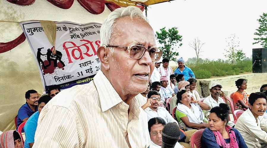 File picture of Stan Swamy in Ranchi