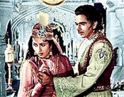 With Madhubala in Mughal-e-Azam