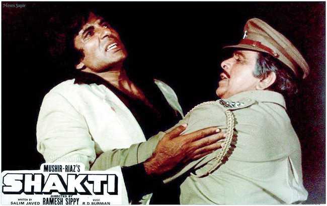 With Amitabh Bachchan in Shakti