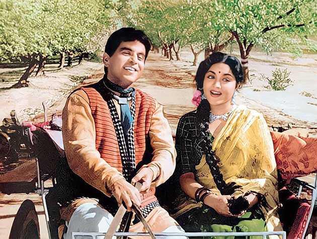 With Vyjayanthimala in Naya Daur