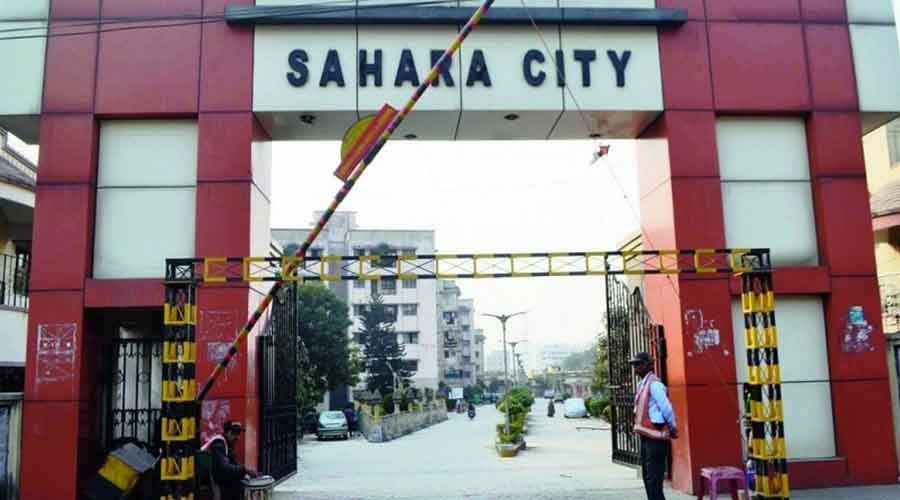 Sahara City residential colony's entrance in Mango.