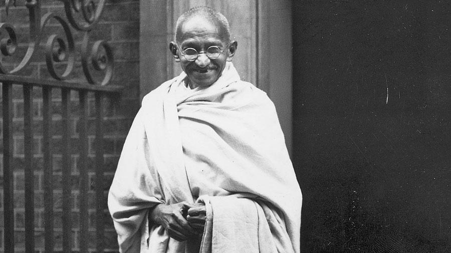 M.K. Gandhi.