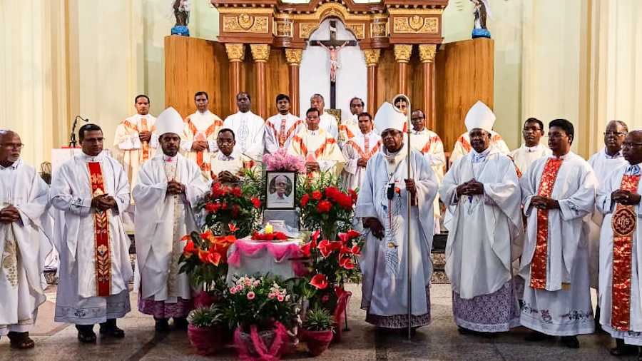 Ranchi archdiocese held a special mass at St Mary's Cathedral on Saturday in memory of Father Stan Swamy