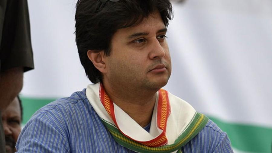 Civil aviation minister Jyotiraditya Scindia.