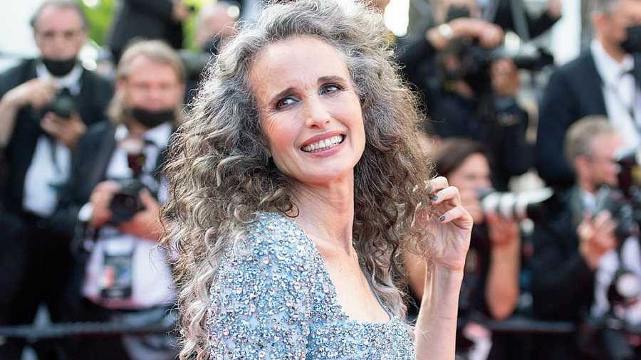 Actor Julianne Moore may have recently called out the phrase 'ageing gracefully' as 'sexist' (and rightly so), but Andie MacDowell, at 63, was a vision on the 74th Cannes Film Festival red carpet last week, turning heads with her trademark curls, a shimmering blend of silver, gray and her natural brunette