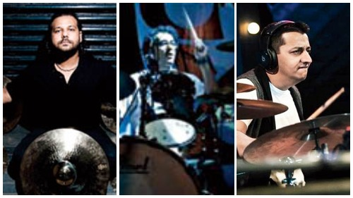 Drummers like (left to right) Gino Banks, Rahul Hariharan and Darshan Doshi have reached out to @gearthirsty to put up their old instruments