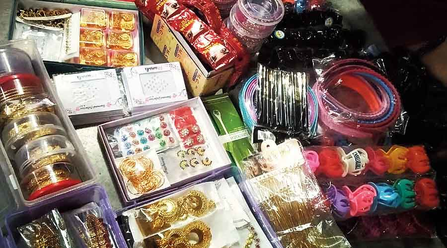 Unsold stocks at a trafficking survivor's home in a South 24-Parganas village.