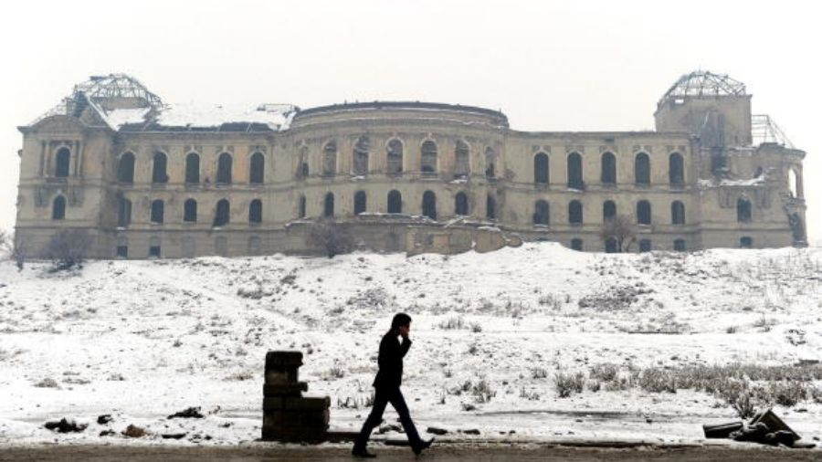 The Darulaman palace in the shadow of which India built Afghanistan's Parliament house.