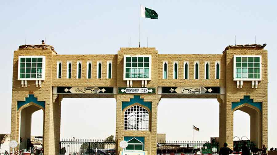 The Friendship Gate at the border crossing in Chaman, Pakistan