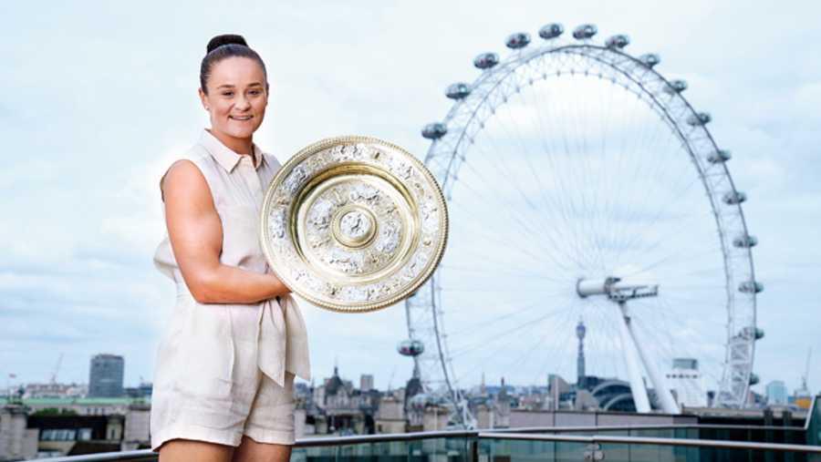 Ash Barty won the Wimbledon Women's Singles title last week, defeating Karolina Pliskova in three sets