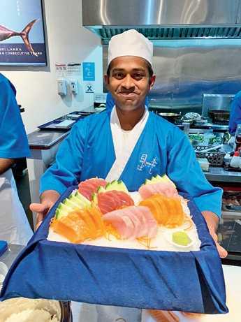 Nihonbashi Blue serves fresh sushi and sashimi