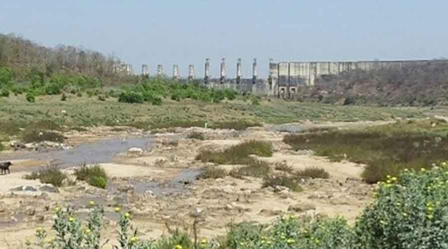 A hind side view of the Mandal Dam