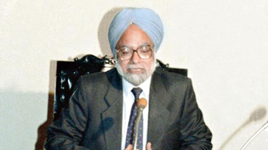 Manmohan Singh as finance minister.