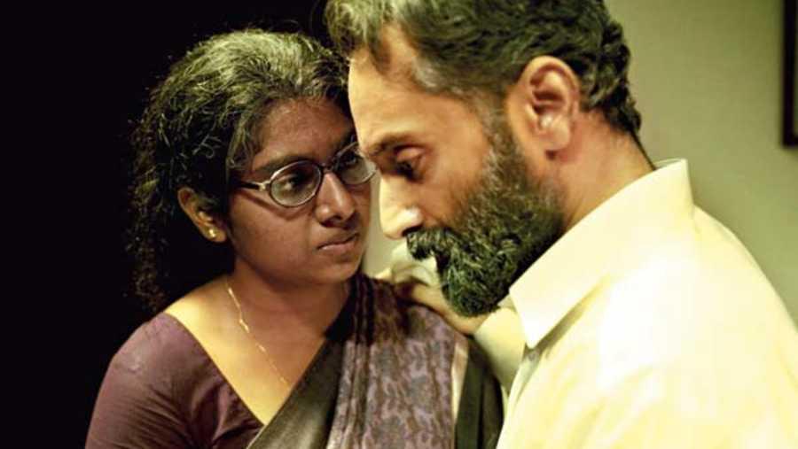 Nimisha Sajayan and Fahadh Faasil in Malik, streaming on Amazon Prime Video