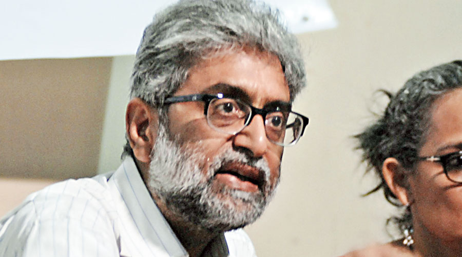 Among the surveillance targets named by the exposé are academics Hany Babu MT, Vernon Gonsalves, Anand Teltumbde and Shoma Sen, activists Rona Wilson and Gautam Navlakha (in pic), and lawyers Arun Ferreira and Sudha Bharadwaj.