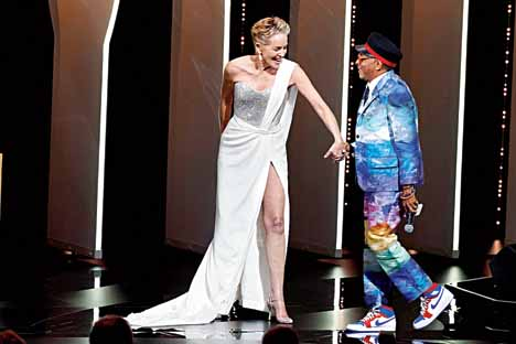 Sharon Stone with Spike Lee