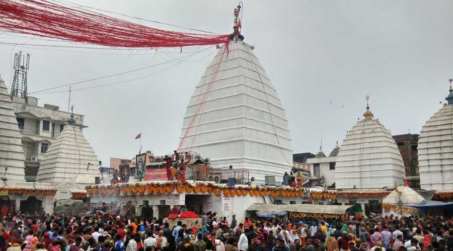 Nearly 40 lakh devotees draw holy water from River Ganga at Sultanganj (in Bhagalpur, Bihar) and travel almost 109km to Deoghar to offer it at the Baidyanath Dham during the holy month of Shravan which commences from July 25.
