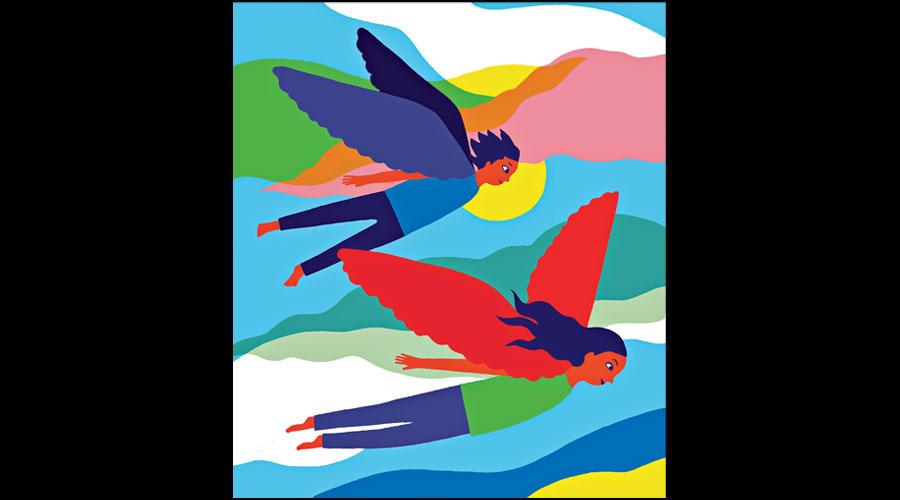 Illustration by Swiss artist Mirjana Farkas for Megh Ganguly's story