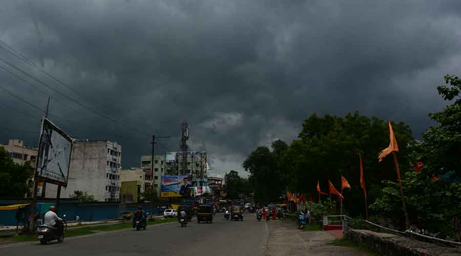 Cloud cover over Jamshedpur on Thursday.