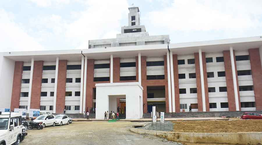 The administrative building of BBMKU at Bhelatand in Dhanbad on Thursday.