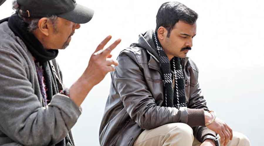 Rajdeep with Anjan Dutt.