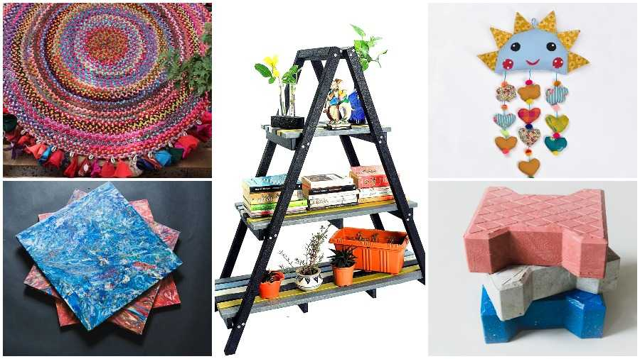 CAN TRASH: Items manufactured from waste