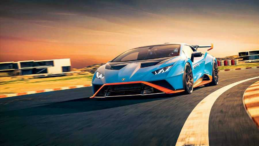 The Lamborghini Huracan STO is inspired by track cars