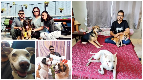 Satrajit Sen and his family with Teetu, Abhishek Dutta with Bosky and Alexa, Bodhisattwa Ghosh with his buds, Rohan Ganguli with one of his pets
